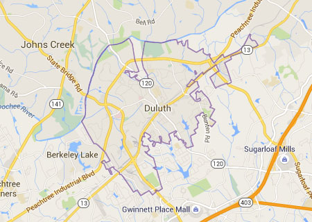 Duluth GA Map